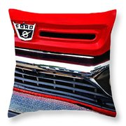 Red Ford Pickup Throw Pillow