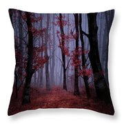 Red Forest 2 Throw Pillow