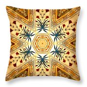 Red Fort Mosaic Throw Pillow