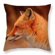 Red Fox 2 Throw Pillow