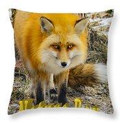 Red Fox Nature Boy Throw Pillow