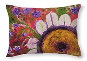 Red Garden Throw Pillow