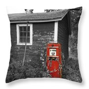 Red Gas Pump Throw Pillow