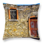 Red Gate, Stone Wall Throw Pillow