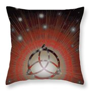 Red Giant Throw Pillow