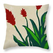 Red Ginger Throw Pillow