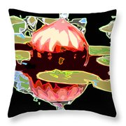 Red Glass Design Throw Pillow