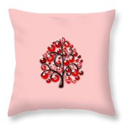 Red Glass Ornaments Throw Pillow