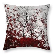 Red Glitter Throw Pillow