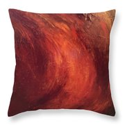 Red-gold Throw Pillow