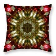 Red Gold Kaleidoscope 1 Throw Pillow