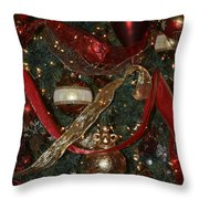 Red Gold Tree No 1 Fashions For Evergreens Event Hotel Roanoke 2009 Throw Pillow