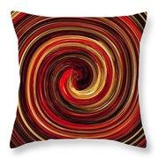 Have A Closer Look. Red-golden Spiral Art Throw Pillow