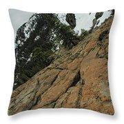 Red Granite Throw Pillow