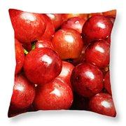 Red Grape Pano Throw Pillow
