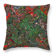Red Green Blue Compressed Throw Pillow