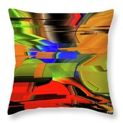 Red Green Yellow Blue Throw Pillow