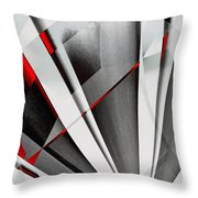 Red-grey Abstractum Throw Pillow