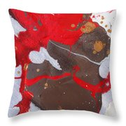 red Grinch thinks nobody can see him Throw Pillow
