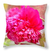 Red Haired Lady Throw Pillow