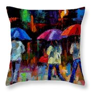 Red Handbag Throw Pillow