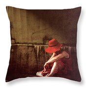 Red Hat Throw Pillow