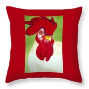 Red Hat Diva Throw Pillow