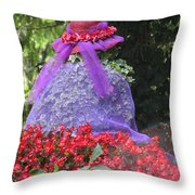 Red Hat Veil Throw Pillow