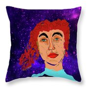 Red Head1 Throw Pillow