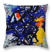 Red-headed Bluesprecher Throw Pillow