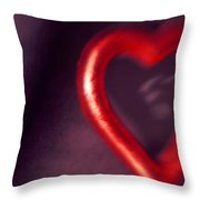 Red Heart Mirror Throw Pillow
