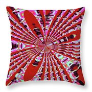 Red Heavy Screen Abstract Throw Pillow