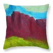 Red Hills Revisited. Throw Pillow