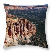 Red Hoodoos Of Bryce Canyon National Park Throw Pillow