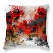 Red Hope  Throw Pillow