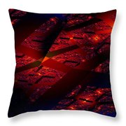 Red Hot Confetti Throw Pillow