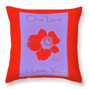 Red Hot Passion Flower Throw Pillow