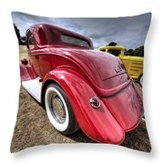 Red Hot Rod - 1930s Ford Coupe Throw Pillow