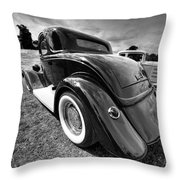 Red Hot Rod In Black And White Throw Pillow