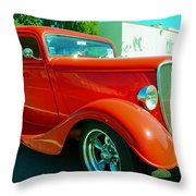 Red Hot Rod Throw Pillow