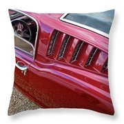 Red Hot Vents - Classic Fastback Mustang Throw Pillow