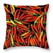 Red Hots Throw Pillow by Christian Slanec