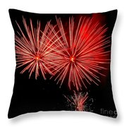Red Hots Throw Pillow