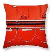 Red Hull Throw Pillow
