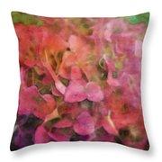 Red Hydrangea 2421 Idp_2 Throw Pillow