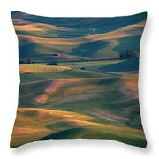 Red In A Sea Of Green Throw Pillow