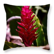 Red In The Forest Throw Pillow