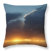 Red In The Morning Throw Pillow