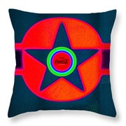 Red Intense Throw Pillow