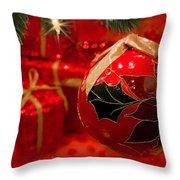 Red Is Christmas Throw Pillow